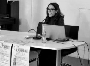 La scrittrice Elettra Solignani